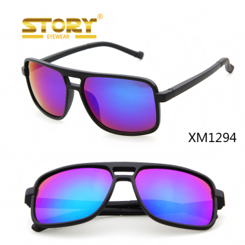 STORY Matte Sqaure Frame Custom rubber goggles sports Sunglasses