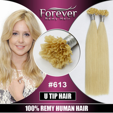 Best 100% remy russian Human Hair , Italian Keratin top quality double drawn 100 cheap remy u tip hair extension wholesale