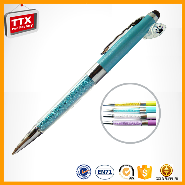 2017 Business Gifts decorative stylus pen crystal promotional