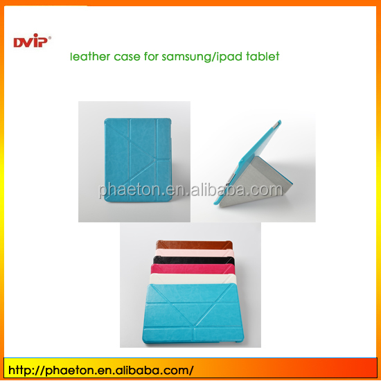 For iPad Mini 2 Folio PC and PU leather Cover,New Arrival Deformable Leather Case For iPad Mini 2