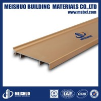 Aluminum skirting baseboard for wall decoration in building materials