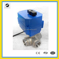 DC12V DN15 3-way min shape electric motor control valves for irrigation equipment,drinking water equipment