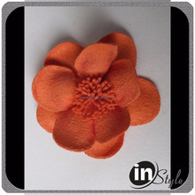 New style felt flowers for scrapbooking