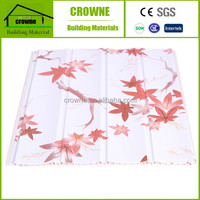 best selling new building construction materials wood plastic tiles laminated panel ceiling pvc wall panels design