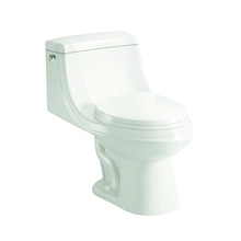 Single flush bathroom ceramic one piece siphon toilet