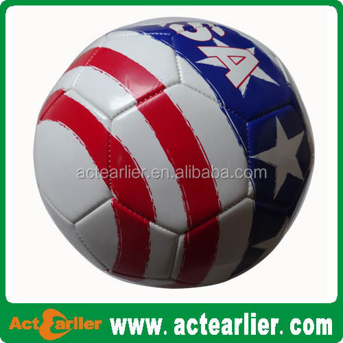 colorful leather soccer ball