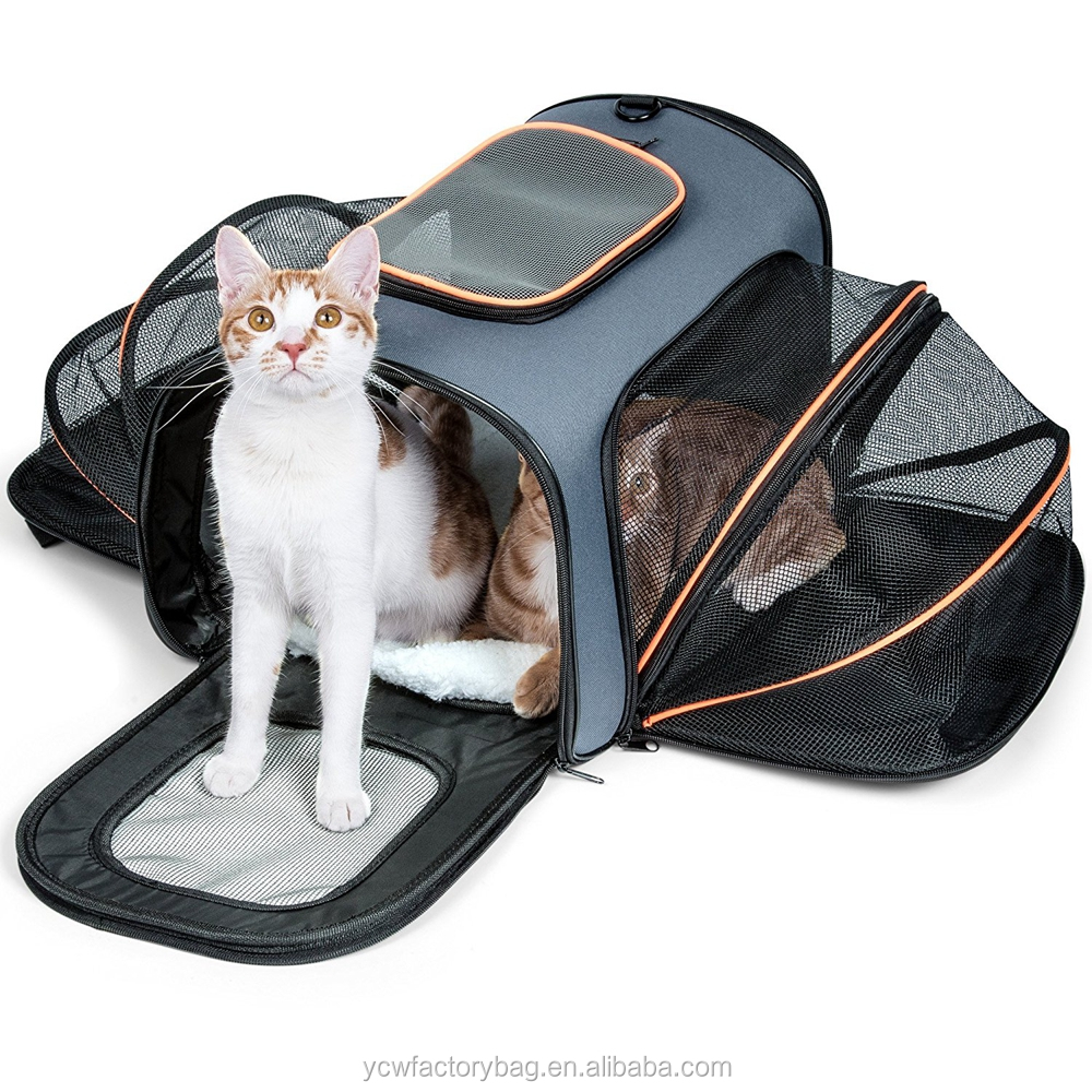 High Quality Cat Carrier, Airline Approved Expandable Soft Sided Pet Travel Carriers Foldable