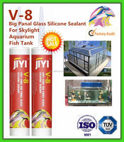 Transparent glass glue of Acid silicon sealant for glass and window