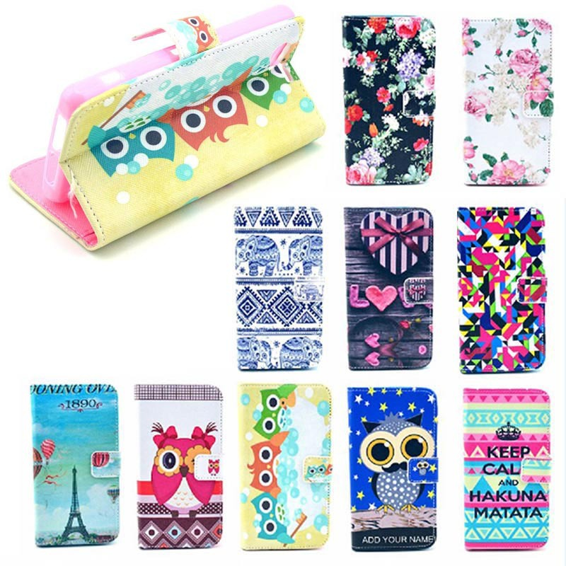 Cute cartoon wallet case for sony xperia z1 compact