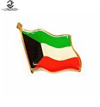 Kuwait national flag collar metal pin badge emblem with wholesale