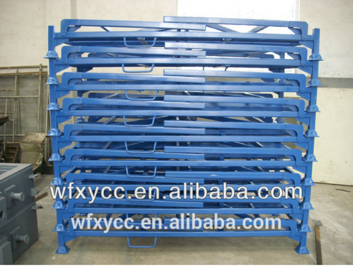 tyre racking stackable steel pallet assembly