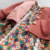 Wholesale baby girl 2 pieces set floral dress and embroidered coat trendy baby clothes