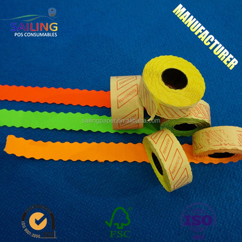 colored 21x10 price label roll