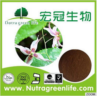 Factory wholesale organic Epimedium extract powder with icariin , herb medicine for long time sex