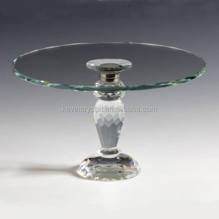 crystal cake plate wedding centerpiece small flower stand