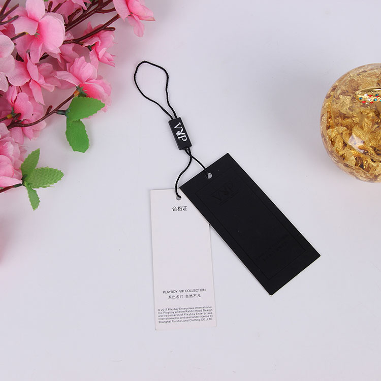 Paper Clothing Hang Tag With String Custom Printed