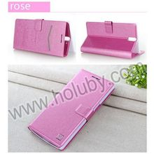 Silk Pattern Wallet Card Slot Case Magnetic Stand PC+PU Flip Leather Cover Case for One Plus One Case
