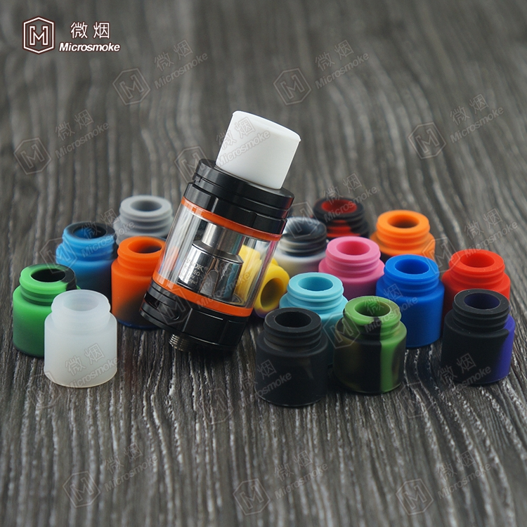 Wholesale short silicone test drip tips for ecigs/electronic cigarette using best material disposable silicone drip tip cover