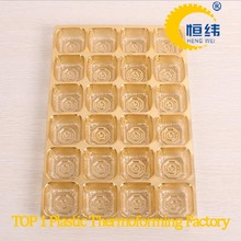 Gold plastic blister packages for foods and chocolates