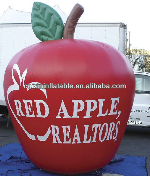advertising inflatable apple model/ inflatable apple replica for advertising/ inflatable apple balloon