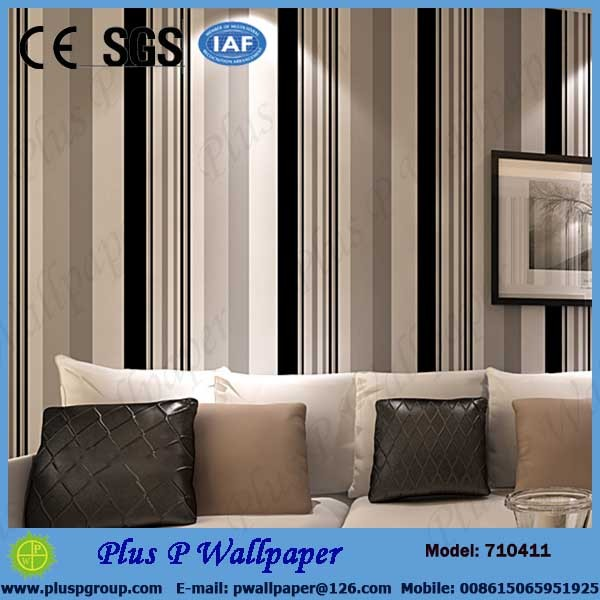 Plus P hot sale Brand new blank wallpaper rolls for wholesales, PVC wallpaper