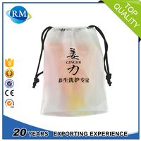 Gravure printing See through HDPE bag with drawstring closure