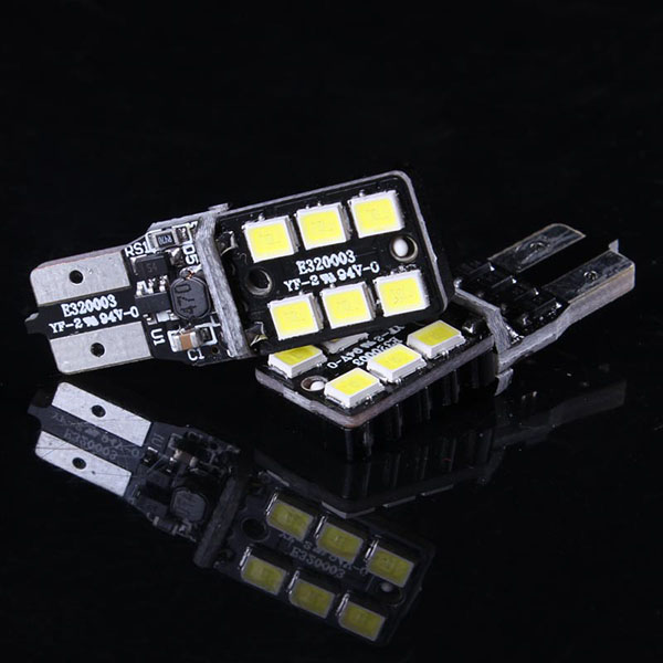 hot sale T10 canbus 6 SMD 2835 led car lamp, no error w5w 194 canbus led, t10 5w5 canbus car led auto bulb