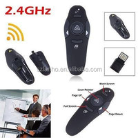 Black 2.4GHz Wireless USB PowerPoint PPT Presentation Presenter Mouse Remote Control