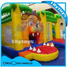 lilytoys inflatable Tiger theme bouncing castle bouncer castle with slide