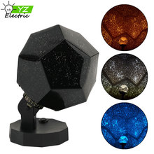 DIY Science Star Sky Night Lights Projector Rotating LED Lamp with 12 Romantic Constellation