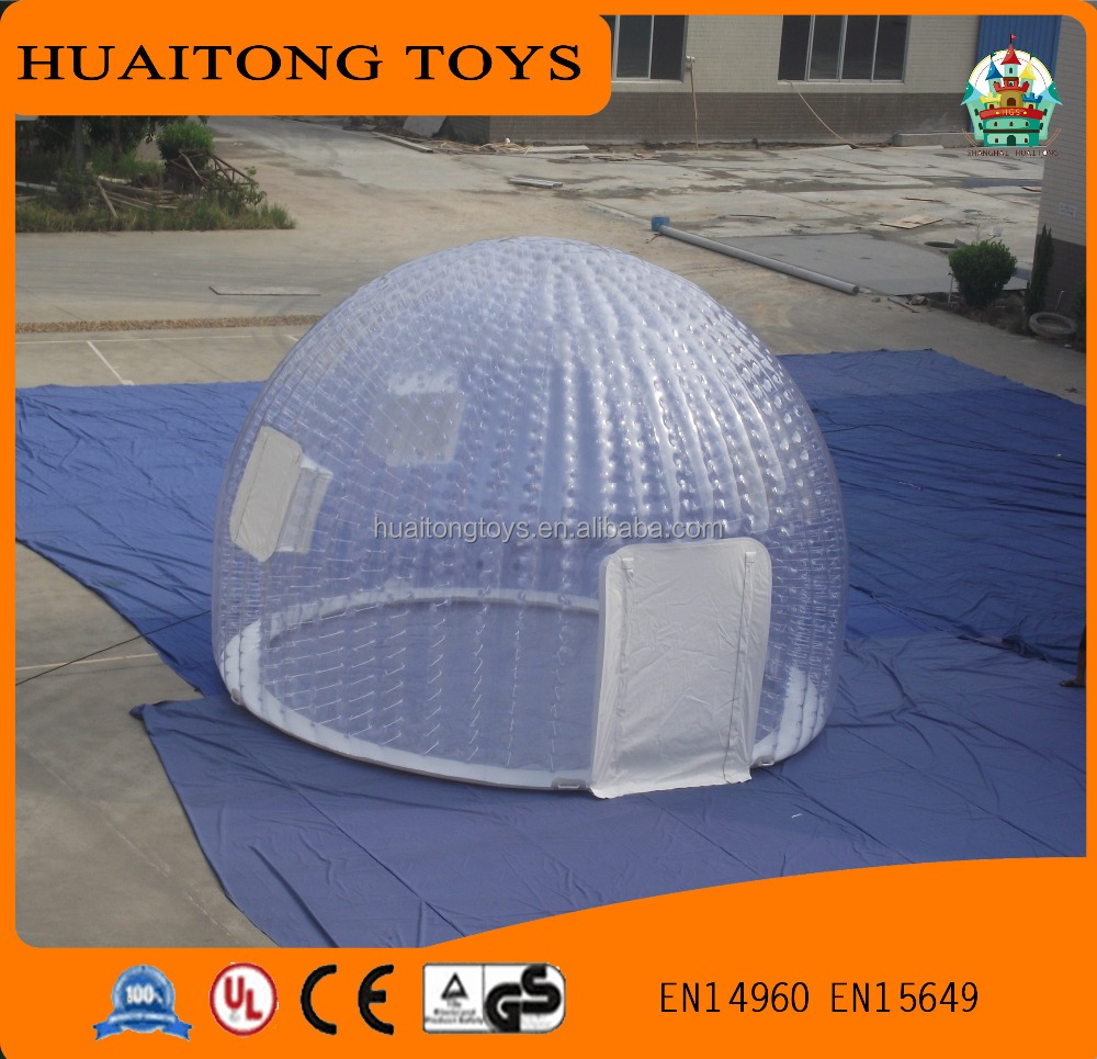 Hot sale camping inflatable tent air dome clear party shpere size customized