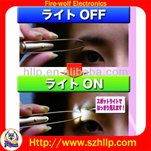 tweezer magnifier with led light. LED tweezer with mirror.China led light tweezer Manufacturers, Suppliers and Exporters
