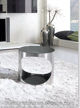 CJ-1206B 304 stainless steel coffee table /glass top hand carved coffee table