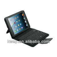 For iPad mini Bluetooth Keyboard with Folio Leather Case KKB034