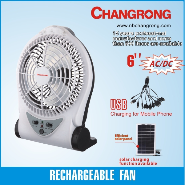 mini rechargeable computer fan and car use solar fan with led lights