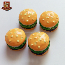 Wholesale resin crafts miniature resin food hamburger ornaments