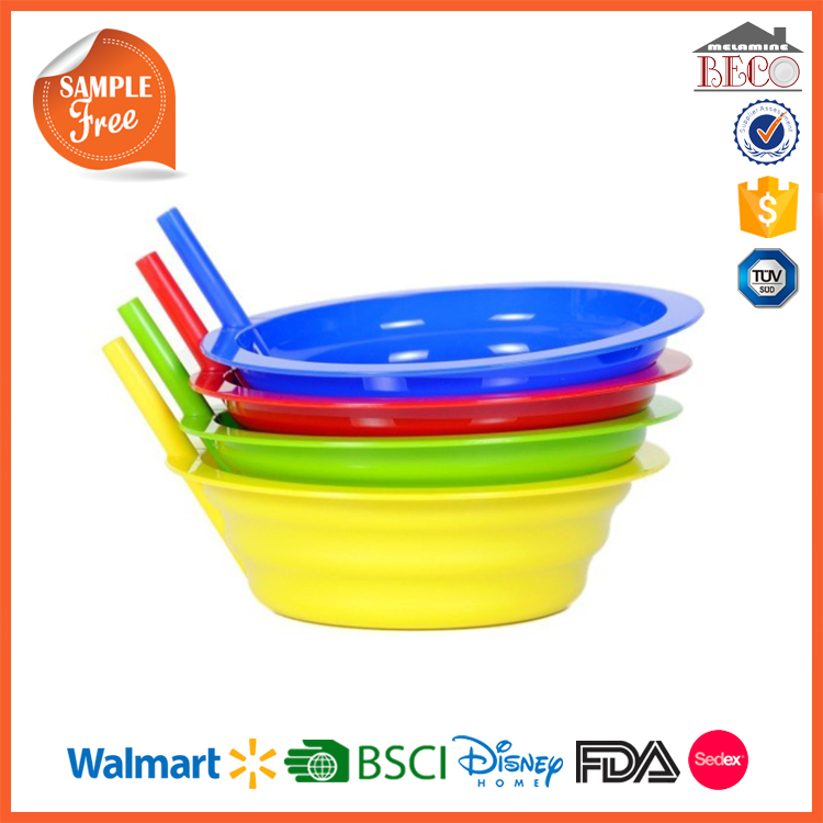 BPA Free Wholesale Plastic Bowl With Straw
