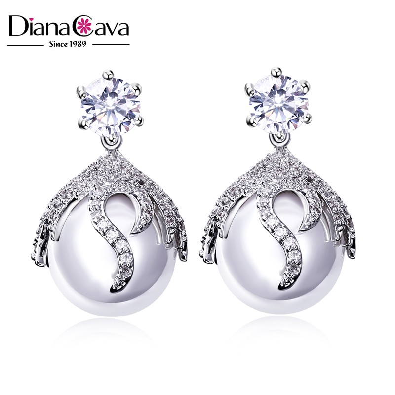 CZ Jewelry pearl earring