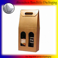 Natural Kraft Olive Oil Carrier 2 Bottle Box