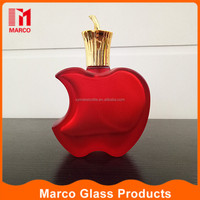 50ml apple logo alumnium cap spray red empety perfume glass bottle