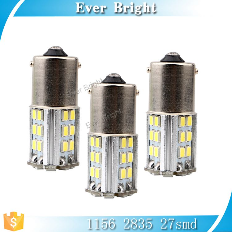 BA15S 1156 auto 2835 27smd bulbs turn ,brake light , led side marker lights for trucks