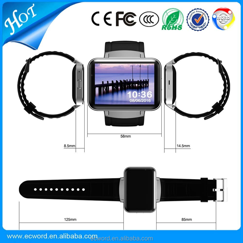 DM98 Bluetooth Smart Watch Heart Rate Monitor Wristband for Samsung Xiaomi HTC Huawei Android for iPhone 5s 6s smartphone watch