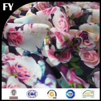 Factory Direct Floral Printed Silk Satin Material Fabric