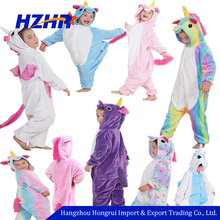 hot sale flannel kids unicorn onesie unicorn pajamas unicorn costume