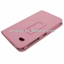 "7"" Tablet PC Leather Stand Case for Samsung Galaxy Tab P6200/P6210-Pink"