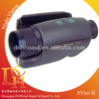 Camera-mounted day and night vision monocular device