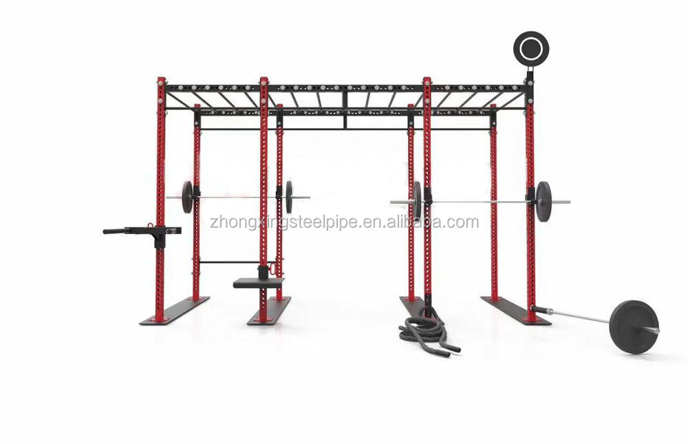 Red Color Gym Equipment Multifunctional Integrated Crossfit Training Rig