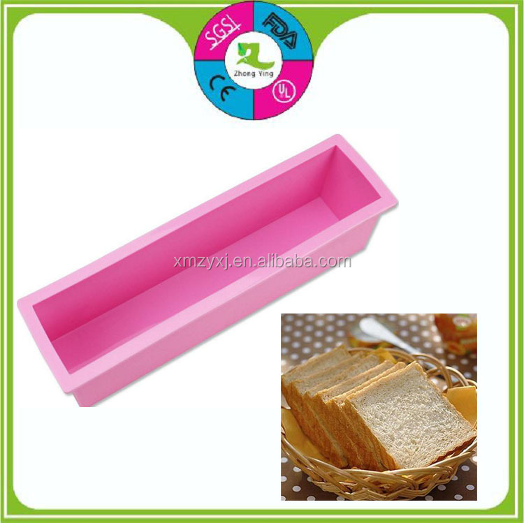 small rectangle toast bread silicone baking cake mold
