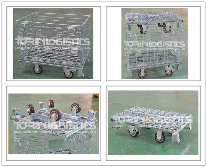 Supplier Large 700KG Capacity Folding Steel Wire Mesh Container
