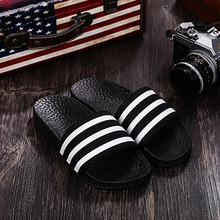 New Design Wholesale Plastic Stripe Slide Sandals For Men